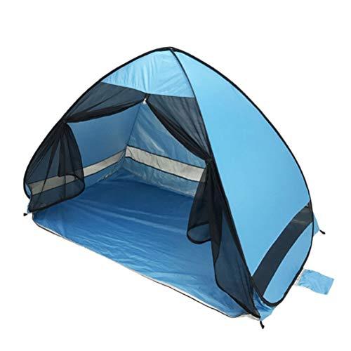 FTW Carpa De Playa Antimosquitos con Protección UV De Gasa Carpa De Playa Portátil para Acampar Automáticamente Al Aire Libre con Cortina De Malla