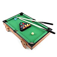 Mini Pool Table, Classics 27-Inch Snooker Table Set Steady Space Saving Billiards Table with All acc...