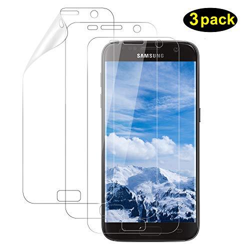 DOSMUNG Schutzfolie für Galaxy S7, (3 Pack) [Blasenfreie] [Anti-Kratzer] [volle Abdeckung] [Ultra-Klar] Klar HD Displayschutzfolie Weich TPU Folie für Samsung Galaxy S7 (Nicht Panzerglas)