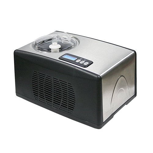 Whynter ICM15LS Automatic Ice Cream Maker 16 Quart Capacity Stainless Steel with Builtin Compressor no preFreezing LCD Digital Display Timer One Size Multi