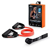 PTP Unisex– Erwachsene Resistance Tube Fitnessband, ORANGE, 12,4kg