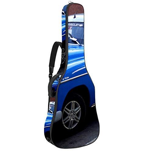 Funda para guitarra de coche con correa ajustable para el hombro, impermeable, color azul