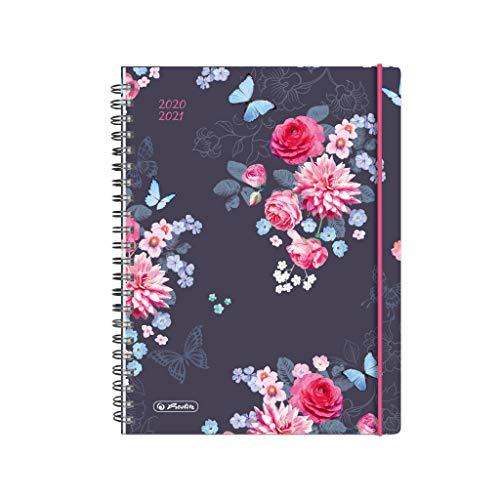 herlitz 50029099 Schülerkalender 2020/2021 MustHave, A5, Motiv: Flowers, 1 Stück