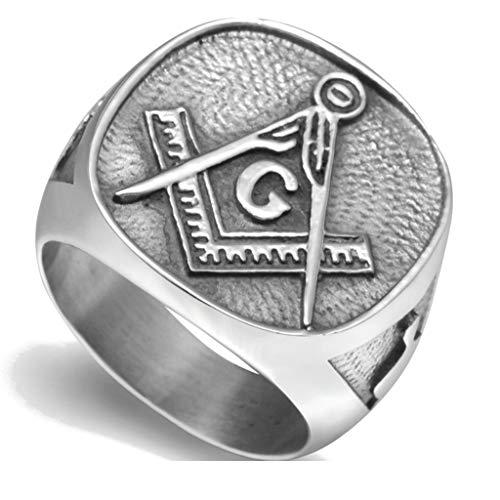 Jude Jewelers Stainless Steel Vintage Signet Masonic Ring (12)