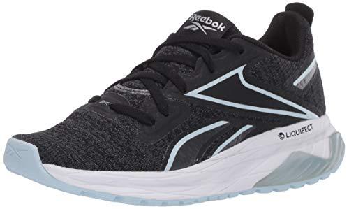 Reebok Women's LIQUIFECT 180 LS Running Shoe, Black/Cold Grey/White, 7.5 M US