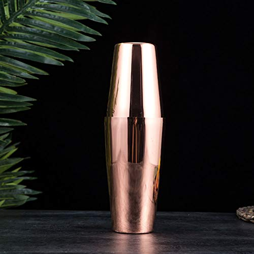 Aoile Stainless Steel Shaker Shaky Cup Wine Mixer Cocktail Bartender Kettle Mixing Tin Rose gold
