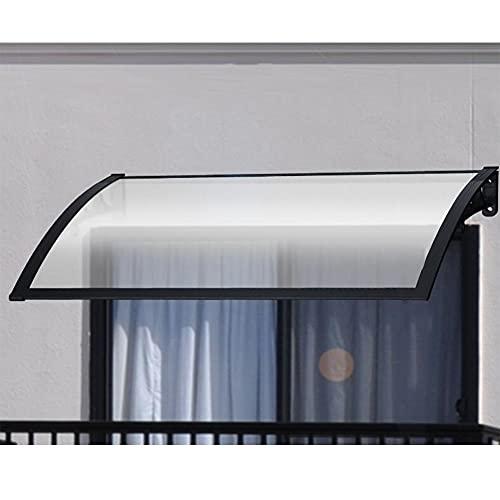 Tejadillo De Protección, Refugio del Toldo del Porche del Patio Diseño Arqueado Marquesinas para Techos Cubierta De Policarbonato Transparente Alta Transmitancia De Luz Anti-UV MAHFEI