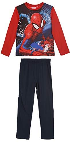 Spiderman Pijama Infantil niños 2 Piezas 100% algodón (8 años, Rojo)