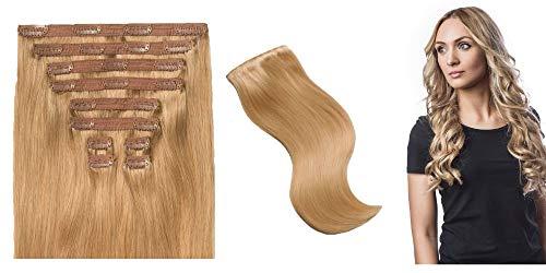Extensions de cheveux 100% naturelles Remy Hair Grade A (120g, Blond Californien)