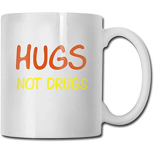 Omarmungen nicht Droge Logo Grappige koffiemok Coole koffiemok Theekop 11 ounces Perfect cadeau voor familie en vrienden
