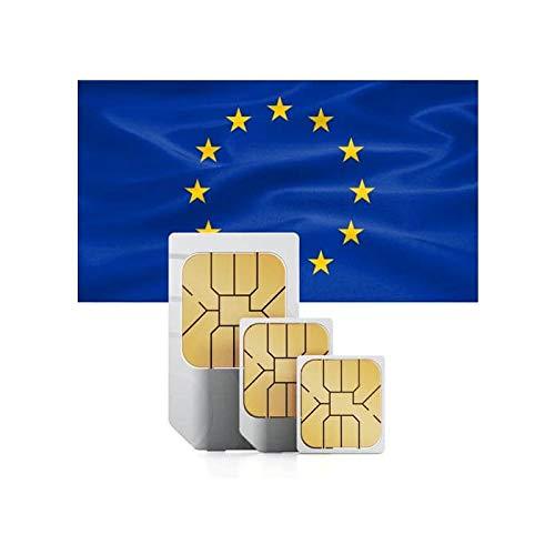 travSIM Västeuropeiska Förbetalt SIM-Kort (Data SIM för Västeuropeiska) - 1GB Mobil Data att använda i Sverige Giltigt i 30 Dagar - SIM-Kort Fungerar i 8+ Länder