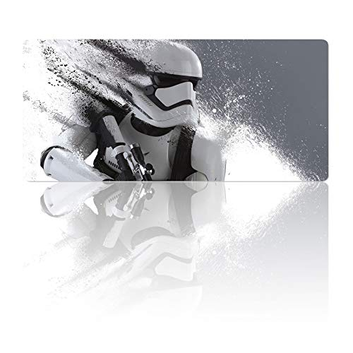 Professional Gaming Mouse Pad Stormtrooper,Mousepad with Non-Slip Rubber Base & Stitched Anti-Fray Edges,Waterproof Mouse Mat,Large Laptop Desk Pad,Computer Keyboard and Mice Combo Pads 23.6X11.8