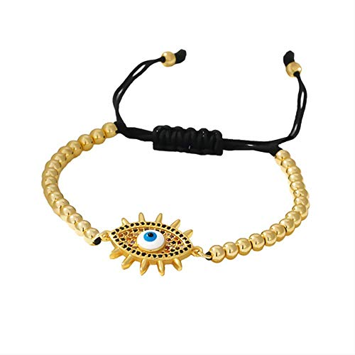 Charm Zircon Eye Indischer Schmuck Armreif Perle Gold Strand Armbänder Aussage Für Mädchen Frauen Büro Schmuck Zubehör