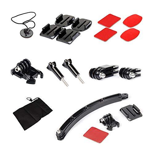 ASOSMOS Motorrad Helmhalterung Kit Gebogene Klebstoff Basis Schraube Kamera Zubehör Für Gopro 4 3 SJ4000