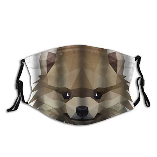 BROWCIN Symmetrisch eines pommerschen Spitzhundes auf Weiß Staubwaschbarer wiederverwendbarer Filter und wiederverwendbarer