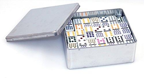 Philos 3629'Doble 15' Domino en Caja de Metal