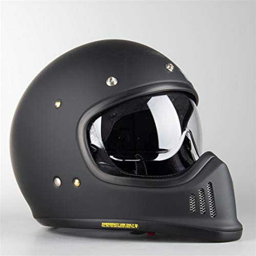 Shoei Integralhelm EX-ZERO schwarz matt Retro Fiberglas mit Doppel-D Verschluss, L 59/60