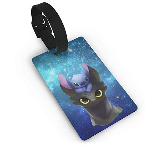 CHSUNHEY Stitch On Toothless Luggage Tags Travel Accessories Suitcase Tags Identifiers Business ID Sturdy Tags Baggage Tags,Travel Accessories Suitcase Tags Apply3.7X2.2in