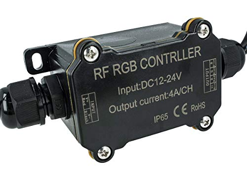 Ledlux CL7014 - Centralita LED RGB controlador impermeable IP65 mando RF inalámbrico 12 V 24 V 4AX3 RF163