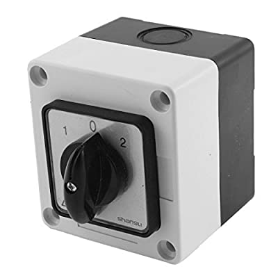 DealMux Ui 660V Ith 20A 3 Position Rotary Cam Changeover Switch w Control Box