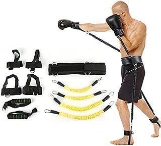 Studstränare fitness motstånd band boxningsdräkt latex rör spänning rep ben midja tränare, vikt: 45,4 kg lijiaxin