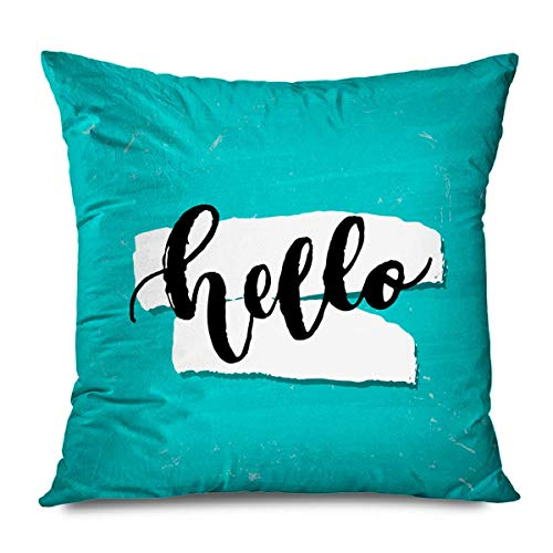 N / A Square Pillow Cover,Throw Cushion Cover,Pillowslip,Pillowcase,Artistic Hand Lettering Abstract Beautiful Graphic Beauty Brush Letter Calligraphic Doodle Love Cushion Case