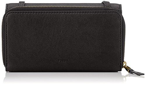 Fossil Damen Tasche Brynn-Mini Bag Geldbörse, Schwarz (Black), 5.1x10.2x20.3 cm