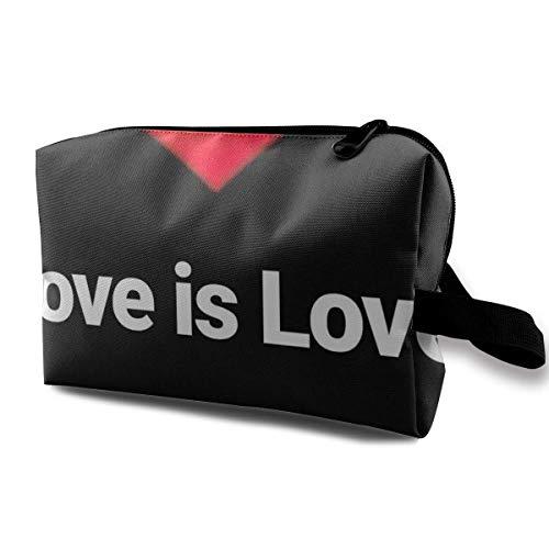 Trousse de maquillage portable pour sac à main, rouge à lèvres et porte-pinceaux de maquillage en forme de cœur