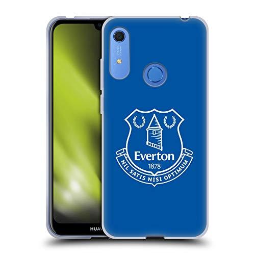 Head Case Designs Oficial Everton Football Club Azul Liso Cresta Carcasa de Gel de Silicona Compatible con Huawei Y6 / Y6s (2019)