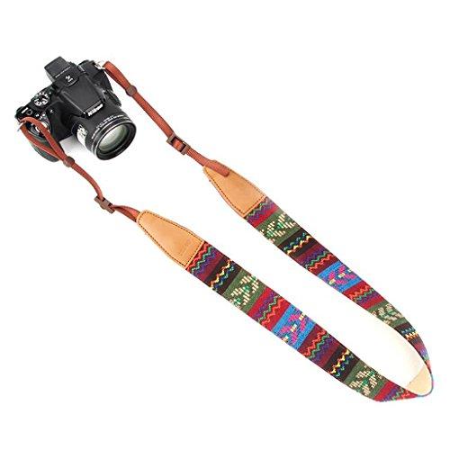 Jeracol Kameragurt Vintage Bohemian Tragegurt Kamera Kameraband Schultergurt Universal Kamera Hals Tragegurt Camera Strap für Alle DSLR Sony Canon Lumix Nikon Olympus, Bunt usw.