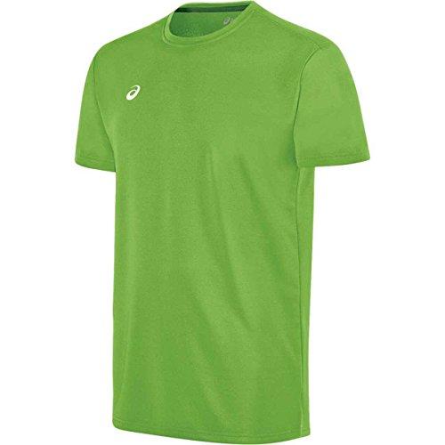 ASICS Herren Circuit 8 Aufwärmshirt, Herren, kurzärmelig, Circuit 8 Warm-up Shirt, neon Green, 3X-Large