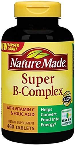 Nature Made Super B Complex + Vitamin C Tablets,