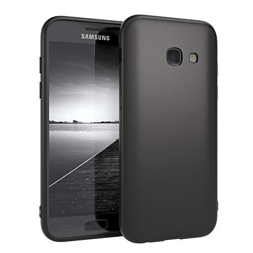 EAZY CASE Handyhülle Silikon mit Kameraschutz Samsung Galaxy A3 (2017) in schwarz matt, Ultra dünn, Slimcover, Silikonhülle, Hülle, Softcase, Backcover