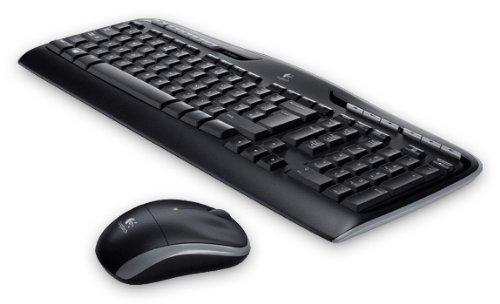 Logitech MK330 Kabelloses Tastatur-Maus-Set, 2.4 GHz Verbindung via Unifying USB-Empfänger, 4 programmierbare G-Tasten, 12 bis 24-Monate Batterielaufzeit, PC/Laptop, US QWERTY-Layout - schwarz