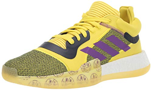 adidas Men's Marquee Boost Low, Shock Yellow/Active Purple/Collegiate Navy, 12 M US