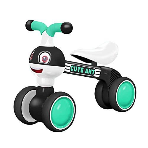 JYWXK Kinder-Dreirad, Baby-Spielzeug, für 1–3 Jahre altes Baby erstes Fahrrad, Geburtstagsgeschenk, kein Fußpedal, Baby Fahrrad, Dreirad, Vier Räder, Kleinkindfahrrad, D B