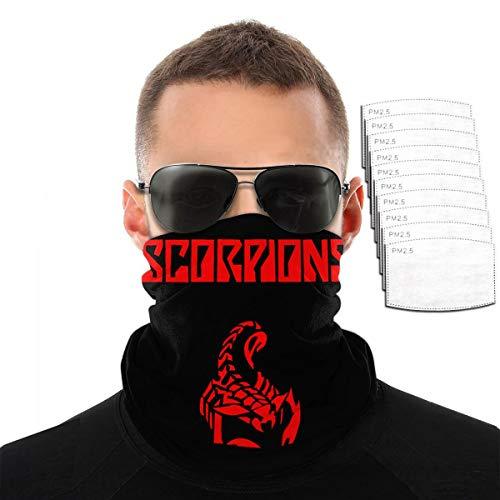 Pekivide Maske Schutzmaske Scorpions Rock Heavy Metal Band Red Logo Sturmhaube Maske Mit Filtern