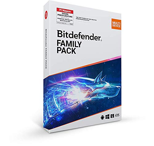 Bitdefender Family Pack - 15 Geräte | 3 Jahre Abonnement | PC/Mac | Aktivierungscode per Post