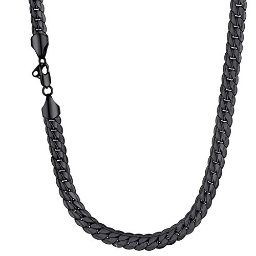 Men Heavy Snake Curb Chain Thick 9MM Wide Street Rock Hip Hop Style...
