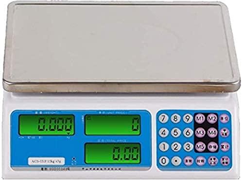 QUERT Básculas Electrónica Electrónica de Alta precisión Computación de Precios Pesaje Inteligente Electrónica Digital con Pantalla LCD