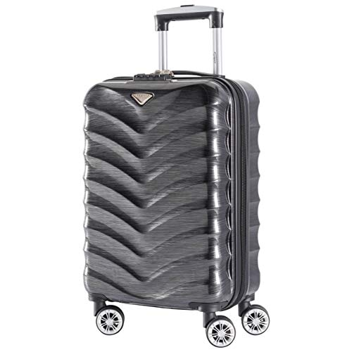 Flight Knight Lightweight 8 Wheel ABS/Polycarbonate Suitcases Cabin Carry On Hand Luggage Approved for Over 100 Airlines Including easyJet, British Airways, RyanAir, KLM, Jet2, TUI & Many More!