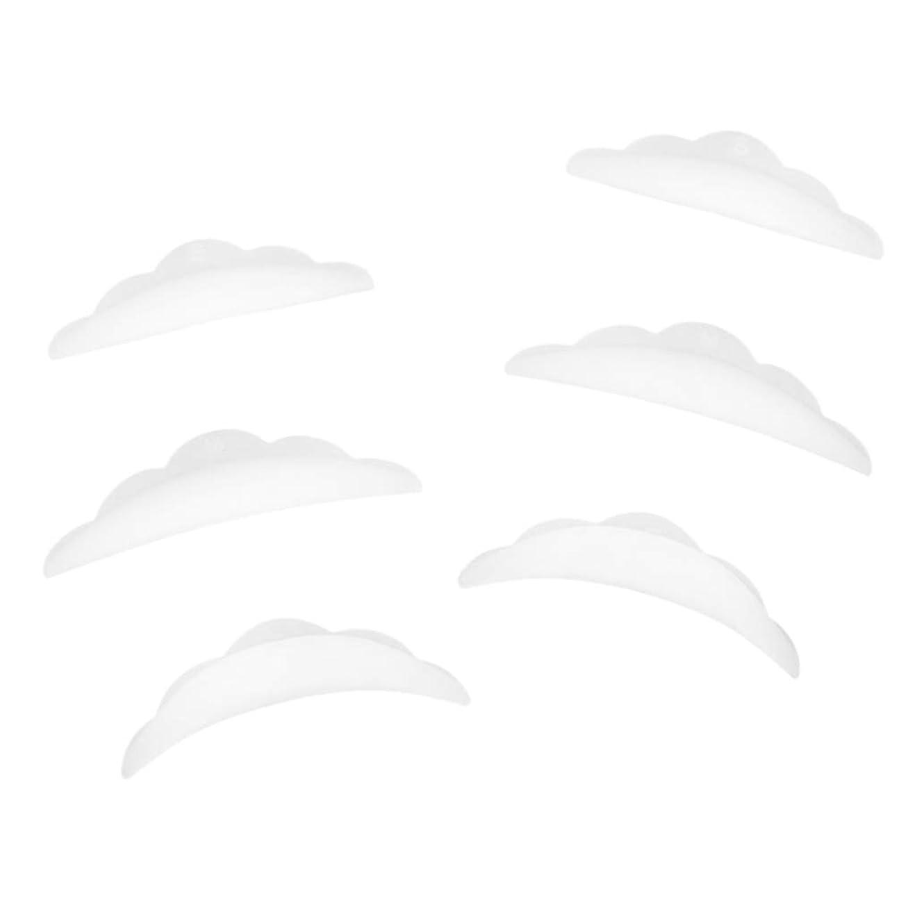 ガムトラフィック散髪B Baosity 3ペア ラッシュリフトパーマ カーラーパッド 再利用可 柔らかい シリコン 快適