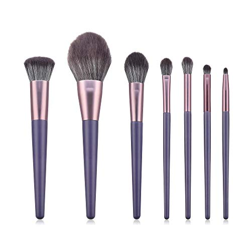 LDLCX Pinceaux De Maquillage, Ensemble De Pinceaux De Maquillage De 7 Pièces, Pinceau Pour Blush À Poudre En Poudre Pourpre L-271C