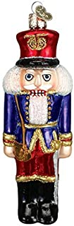 Old World Christmas Nutcracker Soldier Glass Blown Ornament, Blue