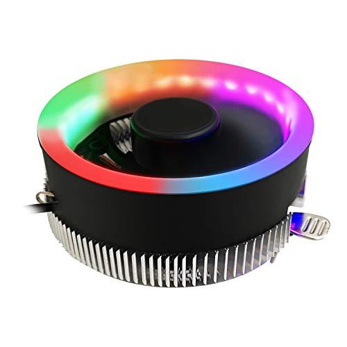 TISHITA Nuevo Disipador de Calor Extraíble RGB LED CPU Cooler Apto para Intel