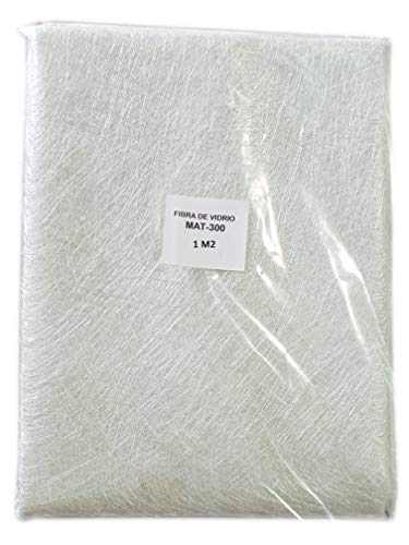 Fibra de Vidrio MAT-300 (densidad 300gr/m2) 1m2 para reparaciones