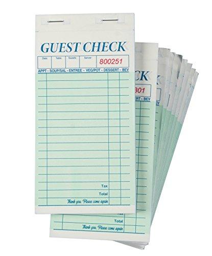 Guest Checks ER–10Kellner Pads, perfekt für Bars, Cafés und Restaurants Bestellungen–Klassisches Design mit Seite Kopieren, Kellnerin Zubehör, 8,6x 17,8cm
