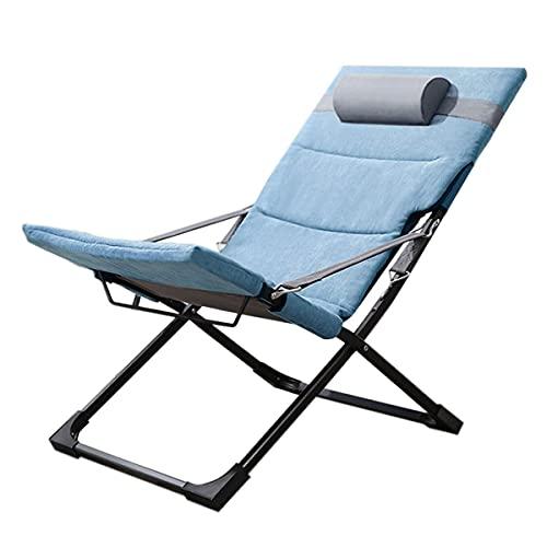 HDZW Silla Plegable para el hogar, Silla portátil de Ocio al Aire Libre, Respaldo Ajustable, cómodo y Transpirable