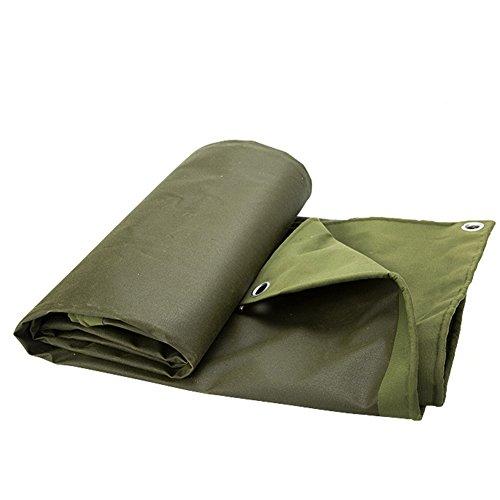 QIANGDA Bâche De Protection Couverture Toile Épaisse Double-côté Imperméable À l'eau Poussière Tampon humidité -650g/M², Armée Verte, 9 Tailles (Taille : 4x5M)