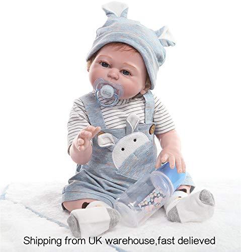 Zero Pam Babypuppen 20 Zoll 50cm Lebensechte Wiedergeborene Babypuppe Weiches Vinylsilikon Wiedergeborenes Baby Simulation Lebendiges Baby Spielzeug Geschenk